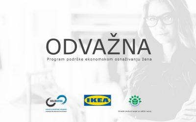 Raspisan je novi natječaj za financijsku i stručnu potporu ženama u poduzetništvu putem programa ODVAŽNA