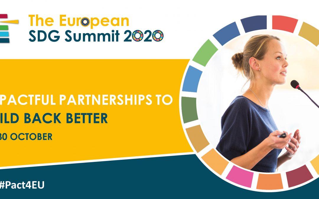 NAJAVA: Europski SDG samit – Učinkovita partnerstva za izgradnju bolje budućnosti