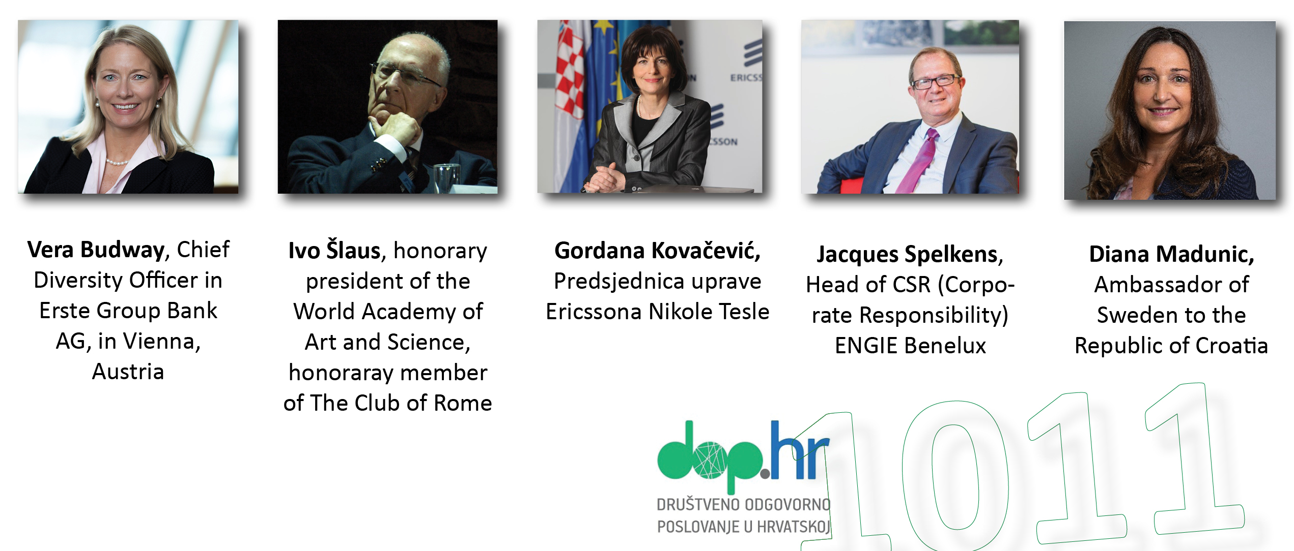 Govornici na 10. konferenciji o DOP-u