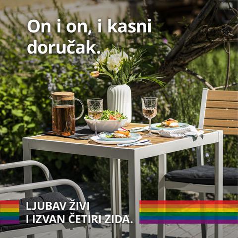 """IKEA Hrvatska podigla zastavu duginih boja te dala podršku LGBT+ pravima i kampanjom """"Ljubav živi i izvan četiri zida"""" Društveno odgovorno poslovanje u Hrvatskoj - Dop.hr"""