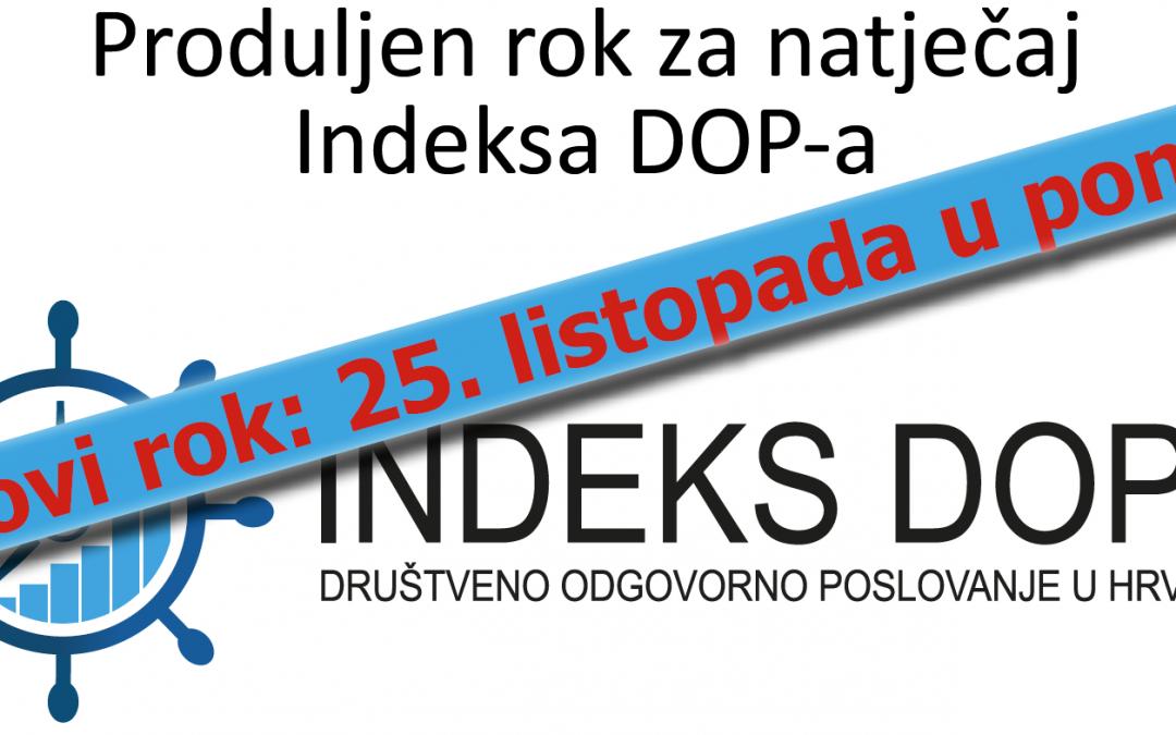 Produljen rok za natječaj Indeks DOP-a