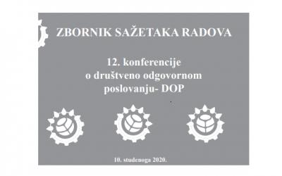 Zbornik sažetaka radova 12. konferencije o društveno odgovornom poslovanju – DOP